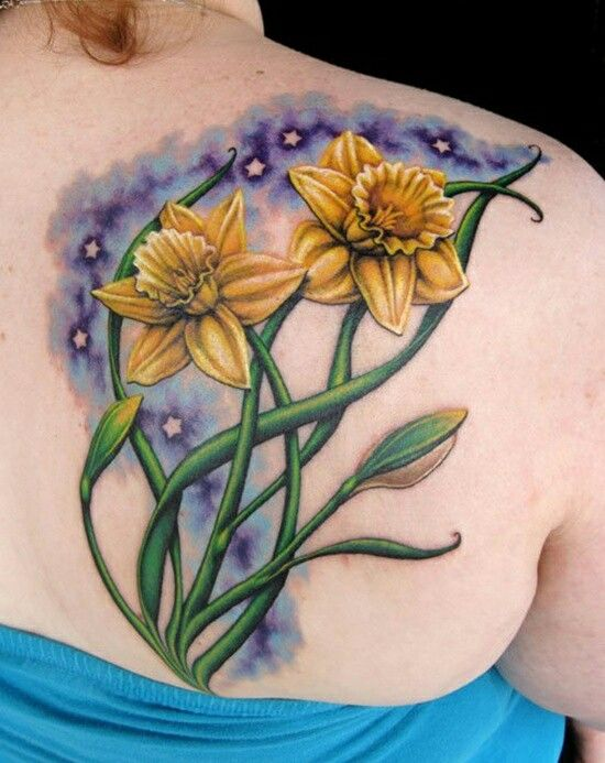 March Birth Flower Tattoo Images