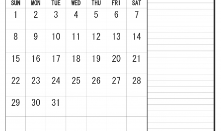 Printable March 2020 Fillable Calendar