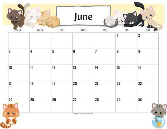 June 2020 Desktop Calendar Wallpaper Template