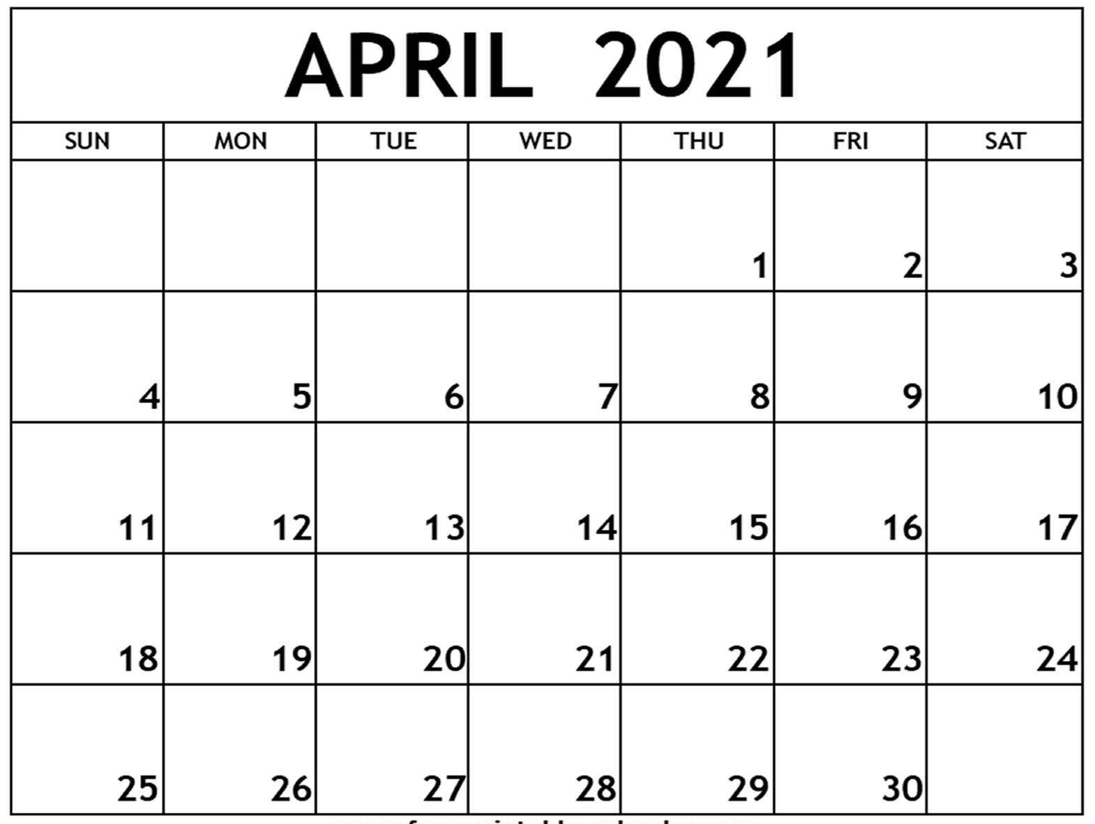 Free Monthly April 2021 Calendar PDF Word Page A4 Letter ...