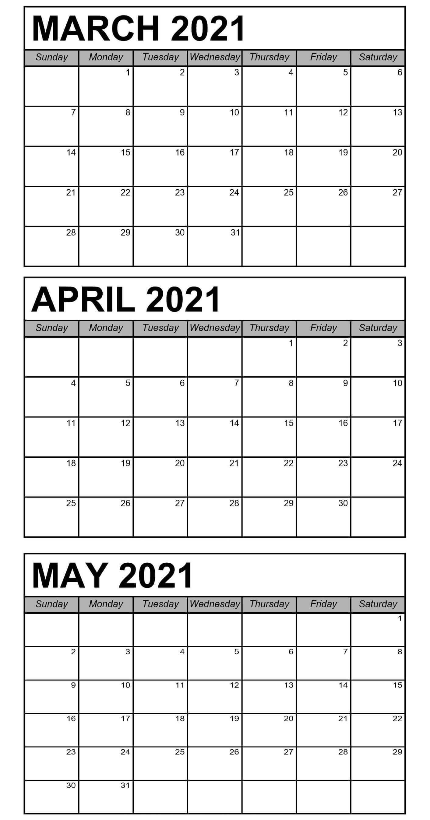 Printable Calendar April 2021 : Free April 2021 Printable ...